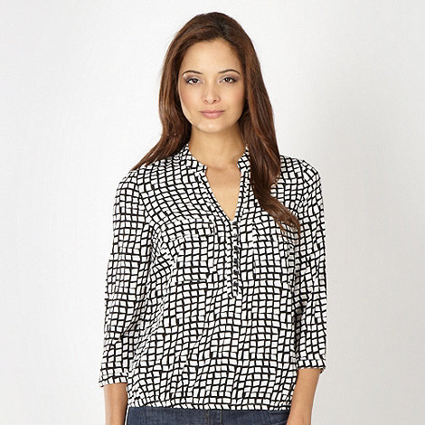 The Collection - Ivory grid shirt
