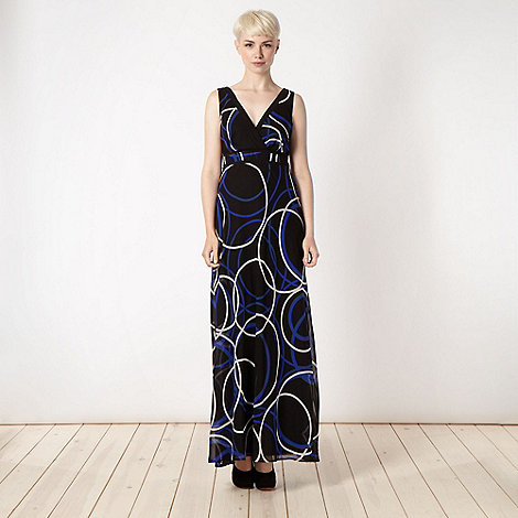 The Collection - Black circle patterned chiffon maxi dress
