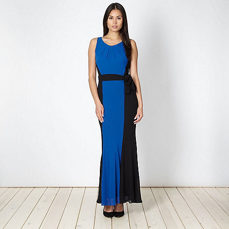 The Collection - Royal blue colour block maxi dress