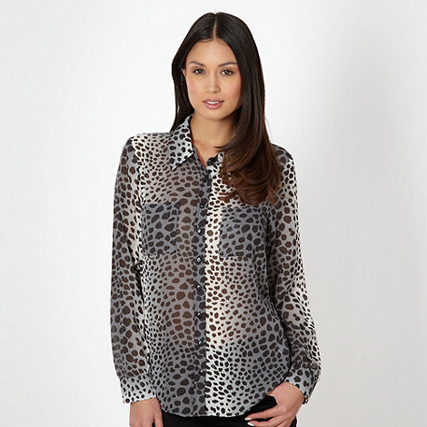 The Collection - Grey animal print shirt