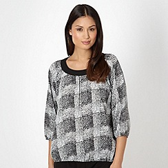 The Collection - Black mono print blouse