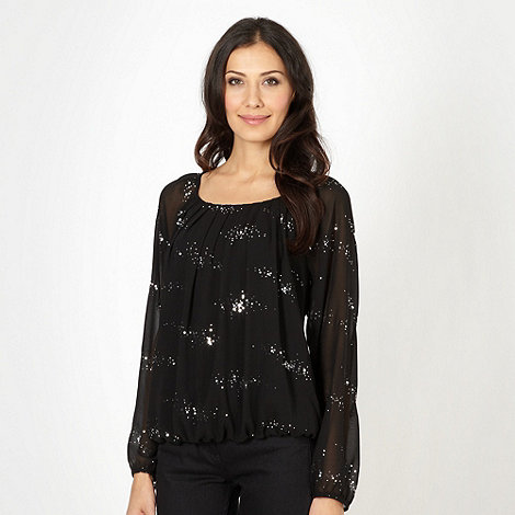 The Collection - Black scatter sequin top