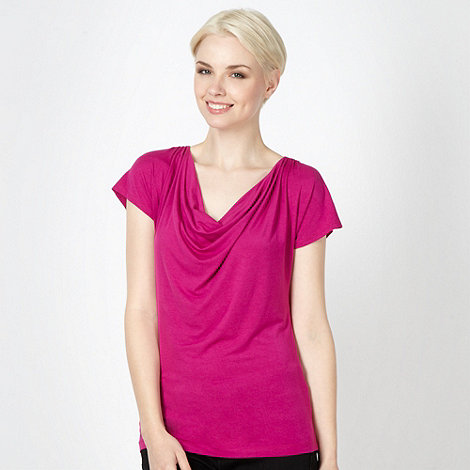 The Collection Petite - Petite dark pink cowl neck top