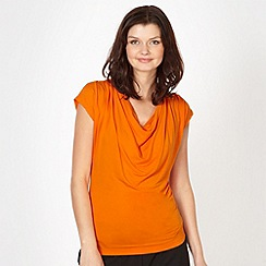 The Collection - Orange slinky cowl neck top