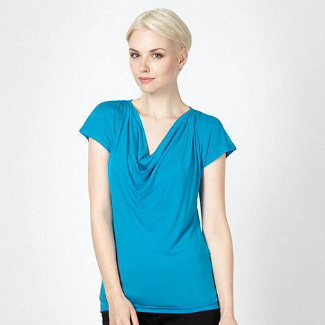 The Collection Petite - Petite turquoise cowl neck top