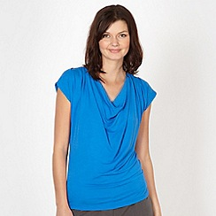 The Collection Petite - Petite bright blue slinky cowl neck top