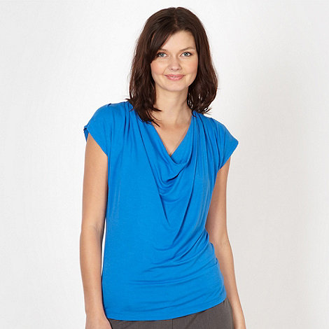 The Collection - Bright blue slinky cowl neck top