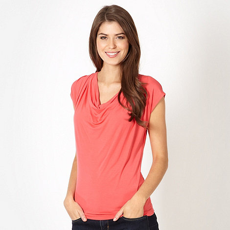 The Collection Petite - Petite coral cowl neck jersey top