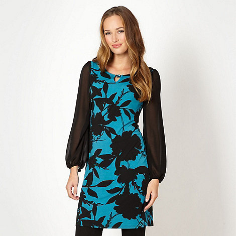 The Collection - Black floral jewel detail tunic