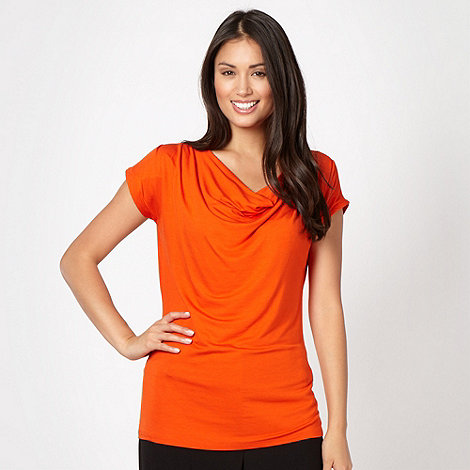 The Collection - Orange cowl neck top