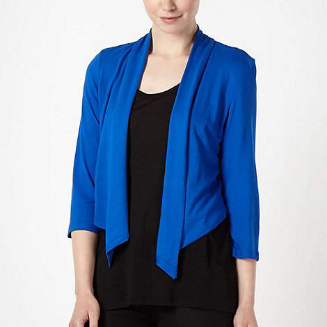 The Collection - Royal blue waterfall jersey cardigan