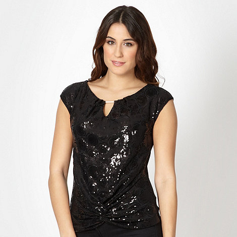 The Collection - Black sequin circle top