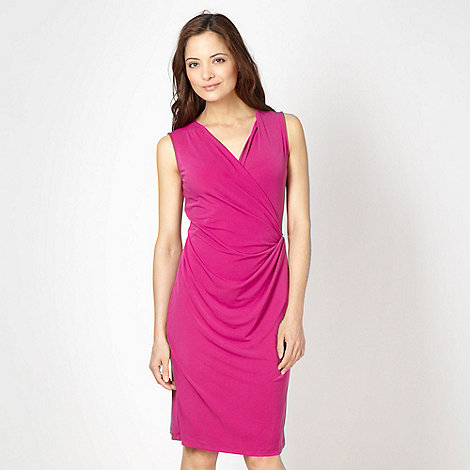 The Collection - Dark pink bar trimmed jersey cocktail dress