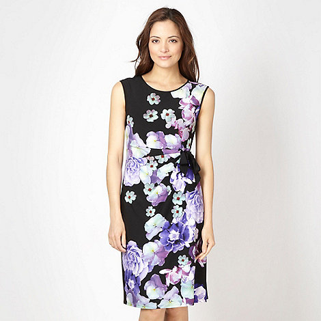 The Collection - Black oriental flower dress