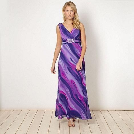 The Collection - Purple wavy printed chiffon maxi dress