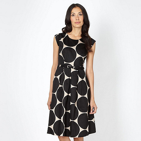 The Collection - Black large spot prom dress