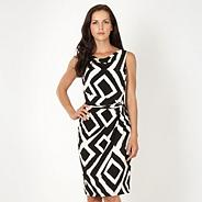 Black geometric diamond cocktail dress