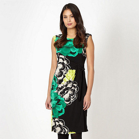 The Collection - Green floral print tie dress