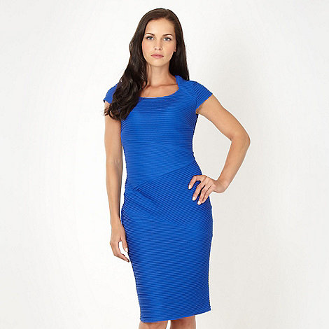 The Collection - Royal blue ribbed jersey cocktail dress