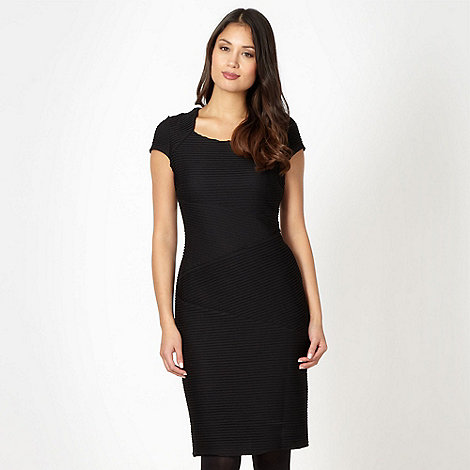 The Collection - Black pleated jersey dress