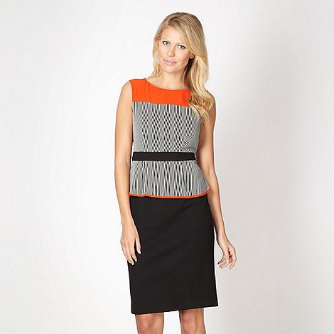 The Collection - Black colour block peplum cocktail dress