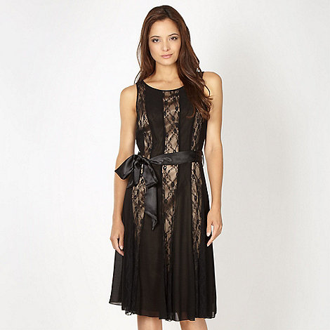 The Collection - Black lace panelled cocktail dress