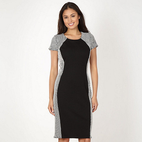The Collection - Black spot panelled dress