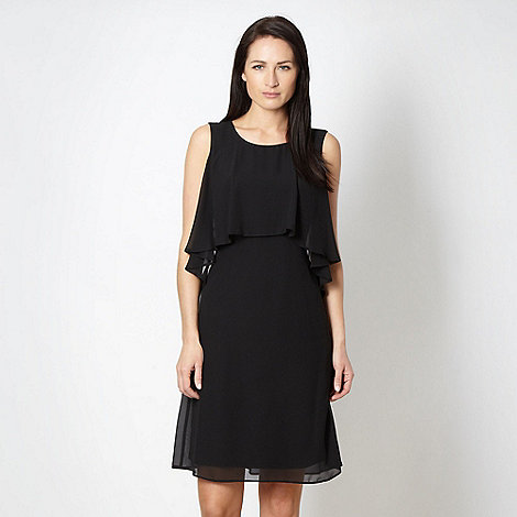 The Collection - Black chiffon cape dress