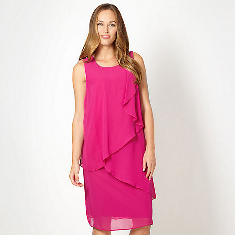 The Collection - Pink asymmetric layered chiffon dress