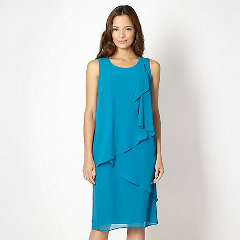 The Collection - Turquoise asymmetric layered cocktail dress