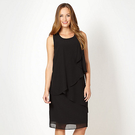 The Collection - Black asymmetric ruffled dress