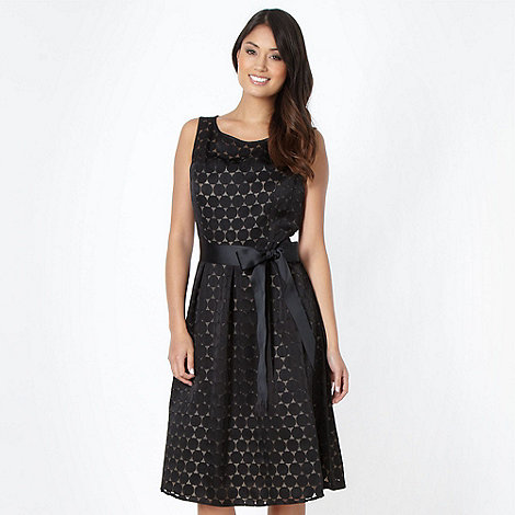 The Collection - Black circle print prom dress