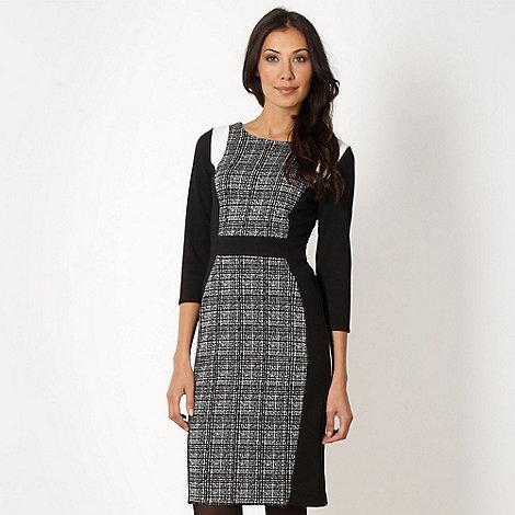 The Collection - Designer black colour block dress