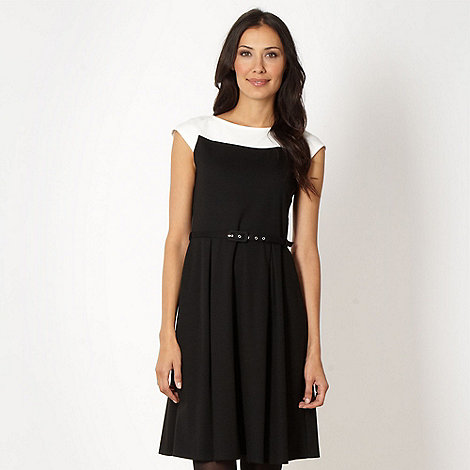 The Collection - Black monochrome skater dress