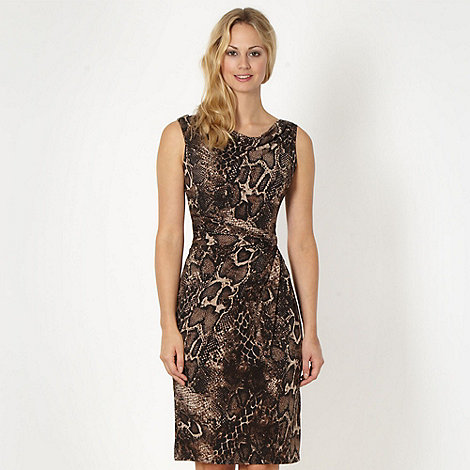 The Collection - Natural snakeskin jersey dress