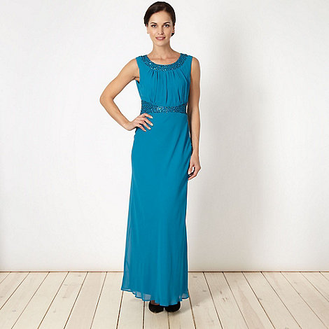 The Collection - Turquoise embellished maxi dress