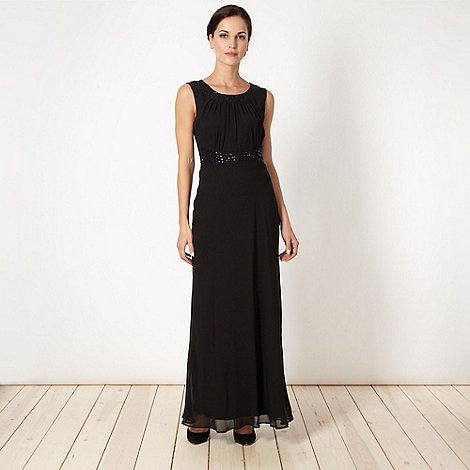 The Collection - Black embellished maxi dress