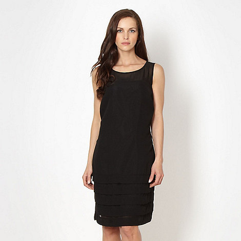 The Collection - Black pleated hem dress