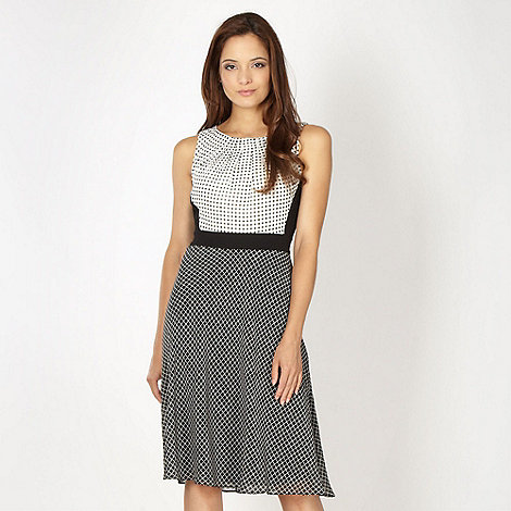 The Collection - Black grid checked dress
