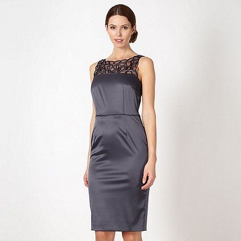 The Collection - Dark grey satin tape dress