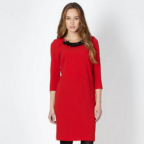The Collection - Red embellished tunic