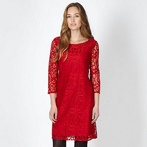 The Collection - Red lace tunic dress