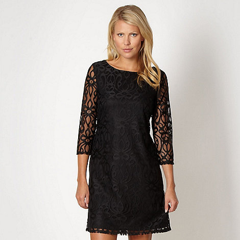 The Collection - Black lace tunic dress