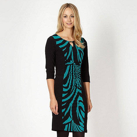 The Collection - Black animal print jersey cocktail dress