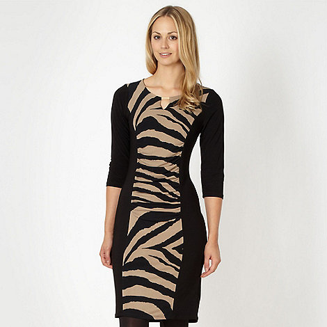 The Collection Petite - Petite khaki animal print jersey dress