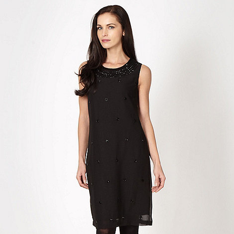 The Collection - Black embellished chiffon dress
