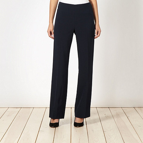The Collection - Navy smart side zip trousers