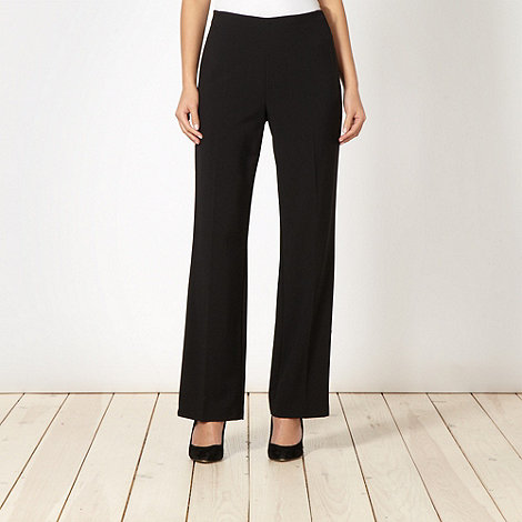 The Collection Petite - Petite black smart side zip trousers