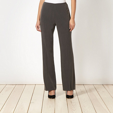 The Collection - Dark grey smart side zip trousers