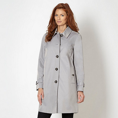 The Collection Petite - Petite grey cocoon mid mac coat
